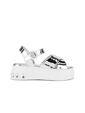 Jewel Platform Sandals
