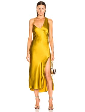 Gathered Slip Dress