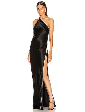 Crystal Asymmetric Gown