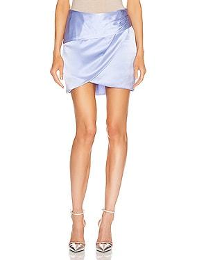Gathered Mini Skirt