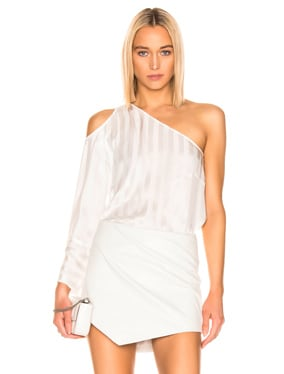 One Sleeve Cut Out Top
