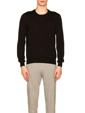 Suede Patch Pullover Sweater