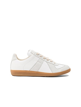 Replica Calf & Lambskin Leather Sneakers