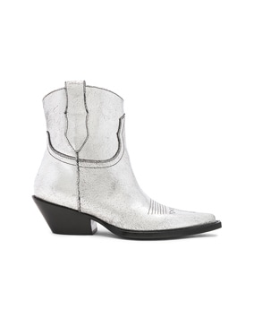 Metallic Short Western Boots