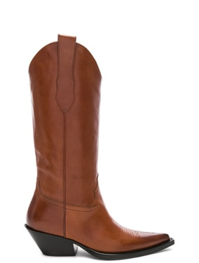 Mid Leather Western Boots