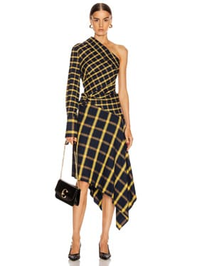 Asymmetrical Patchwork Dress