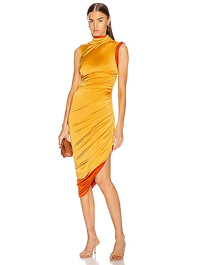 Sleeveless Double Layer Twisted Dress