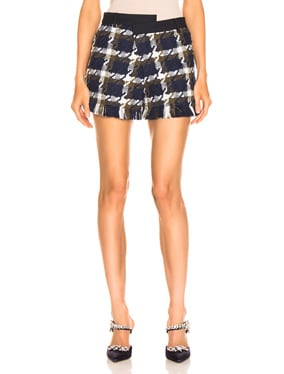 Tweed Asymmetrical Waist Short