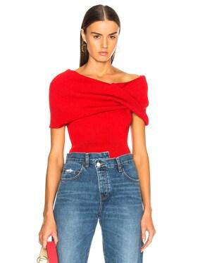Sleeveless Twist Shawl Sweater