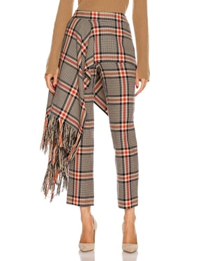 Apron Plaid Pant