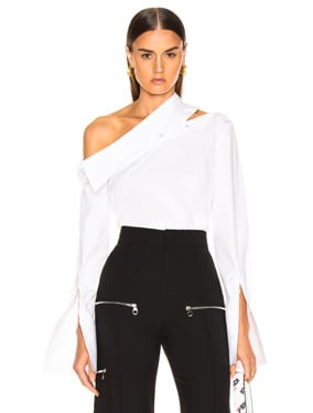Diagonal Slashed Shoulder Shirt