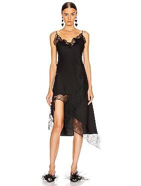 Lace Neckline Slip Dress