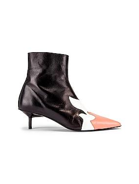 Pointy Kitten Heel Flame Boot