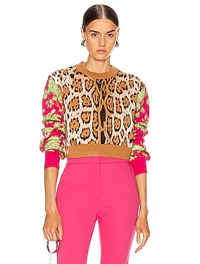 Leopard Floral Sweater