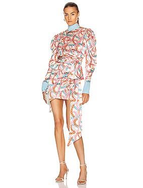Buff Sleeve Mini Dress