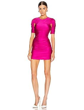 Cutout Ruched Mini Dress