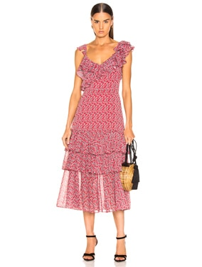 Lisandra Print Dress