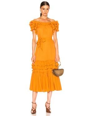 Elio Crepe Midi Dress