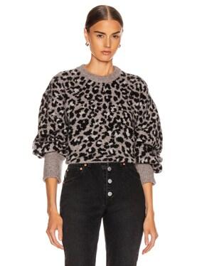 Nelli Leopard Crewneck Pullover