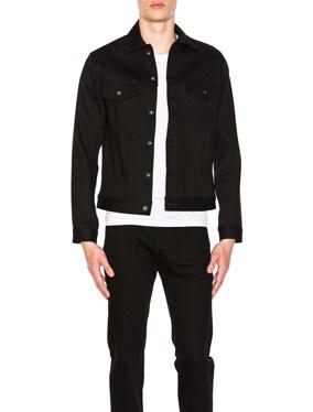 Denim Jacket Solid Black Selvedge