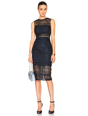 Braided Lace Fitted Dress