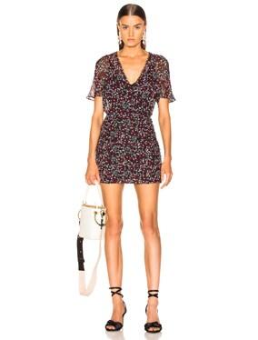 Mini Daisy Ruched Mini Dress