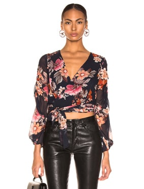 Pintuck Wrap Top