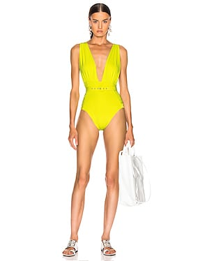 Plunge Ruched Swimsuit