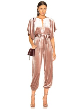 Rectangle Velvet Jog Jumpsuit
