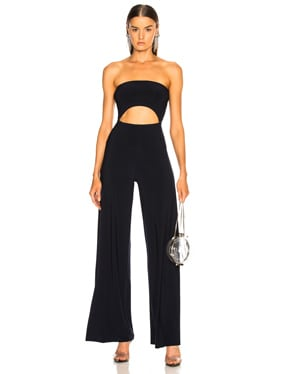 6e764f3df4c8 Norma Kamali Single Breasted Straight Leg Jumpsuit in Ivory