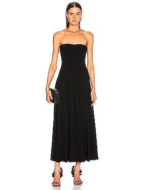 Strapless Flared Midcalf Dress