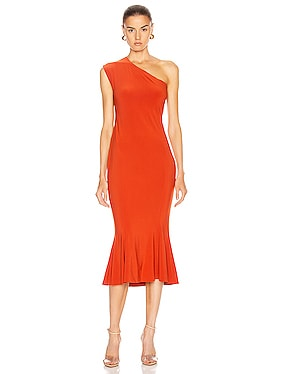 One Shoulder Fishtail Dress