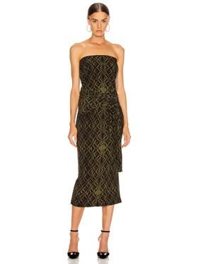 Four Sleeve Off Shoulder Long Dress