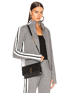 Side Stripe Turtleneck Jacket