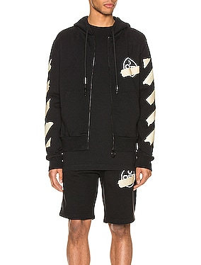 Tape Arrows Slim Zip Hoodie