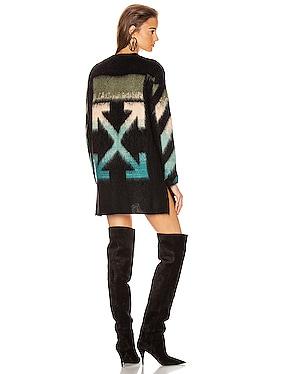 Intarsia Mohair Crewneck Sweater
