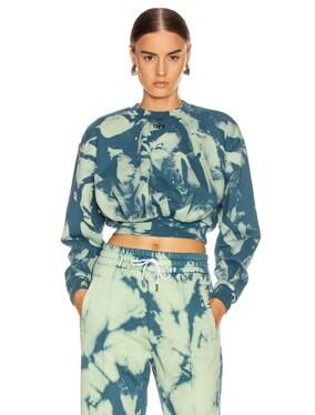 Tie Dye Extra Crop Sweatshirt