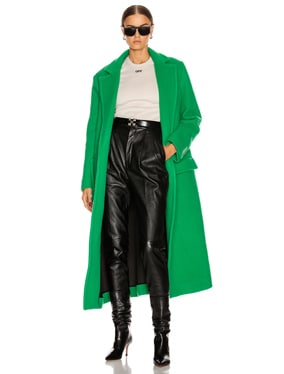 Curly Two Layer Belt Coat