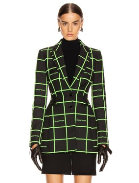 Flock Fitted Shaped Jacket