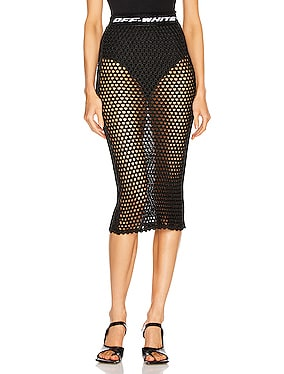 Knit Fishnet Skirt