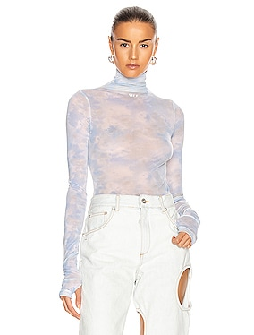 Tie Dye Turtle Neck Bodysuit
