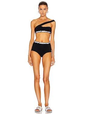 Shoulder Off Bikini Set