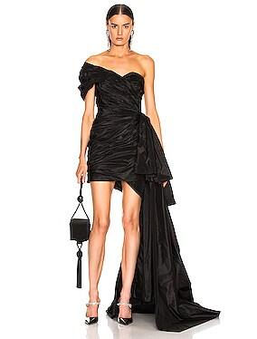 One Shoulder Strapless Dress
