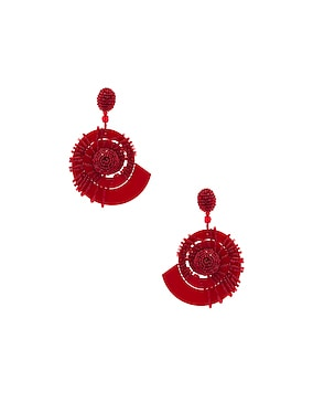 Beaded Seashell Earrings