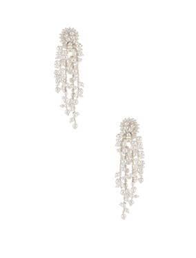 Delicate Flower Chain Drop Earrings