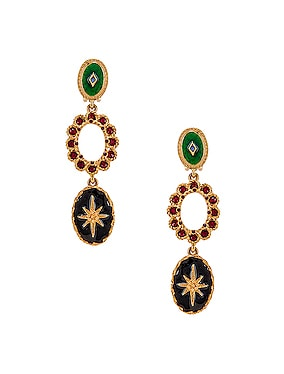 Jeweled Triple Drop Earrings