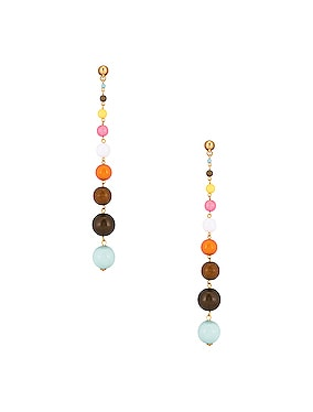 Enamel Ball Drop Earrings