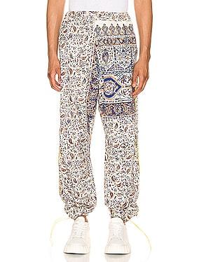 Iranian Print Pleat Trouser