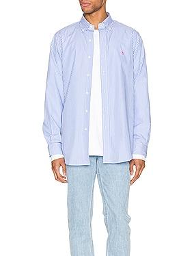 Natural Poplin Button Down Shirt
