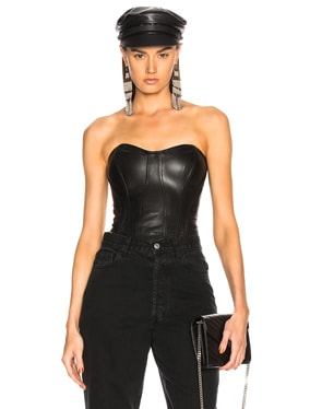Leather Corset Top